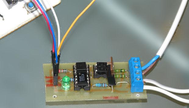 Arduino controlled Triac light dimmer