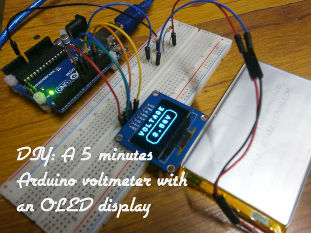 Arduino Voltmeter With OLED Display