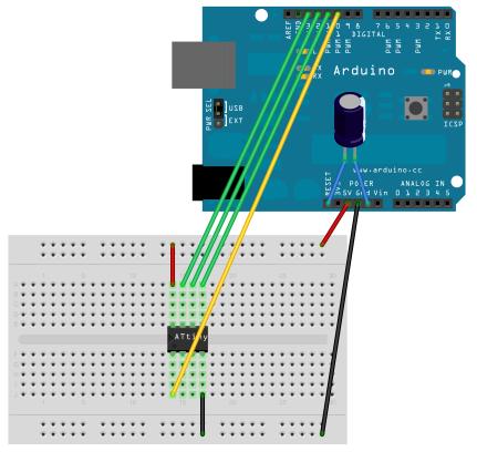 Programming an ATtiny with Arduino board