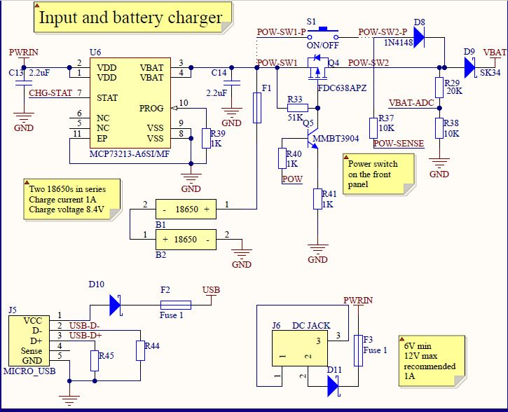 input + charger