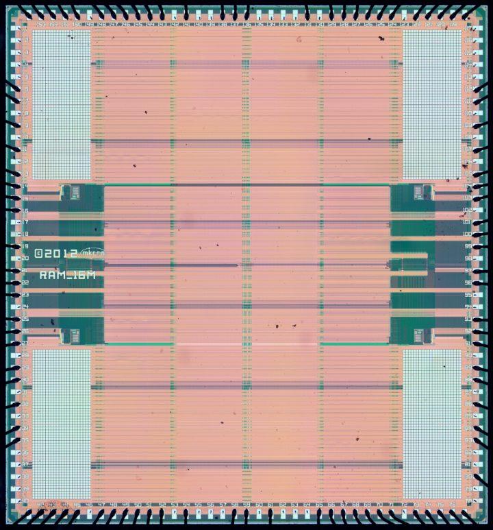 Mikron 1663RU1 – 16 Mibit SRAM Die-Shot