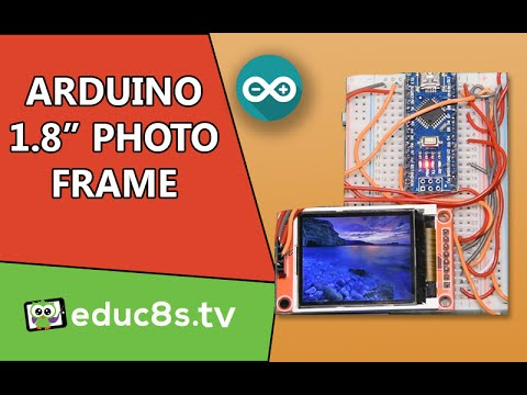 1.8″ DIY Photo Frame using and Arduino Nano and a ST7735 Color TFT display