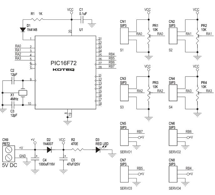 4-CHANNEL-RC-SERVO-CONTROLLER-BOARD-schematic
