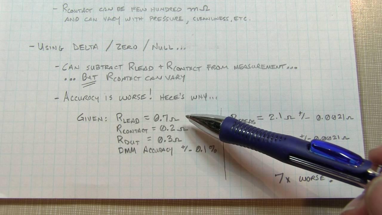 4 Wire Resistance Measurement – Kelvin connection