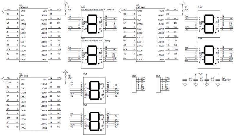 6-Digit-Serial-Display-Driver-CAT4016-SCHEMATIC