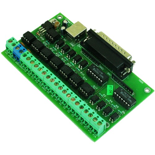 Optically Isolated LPT Breakout Board for CNC & Routers