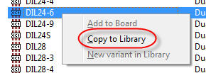 Copy parts between libraries in Eagle