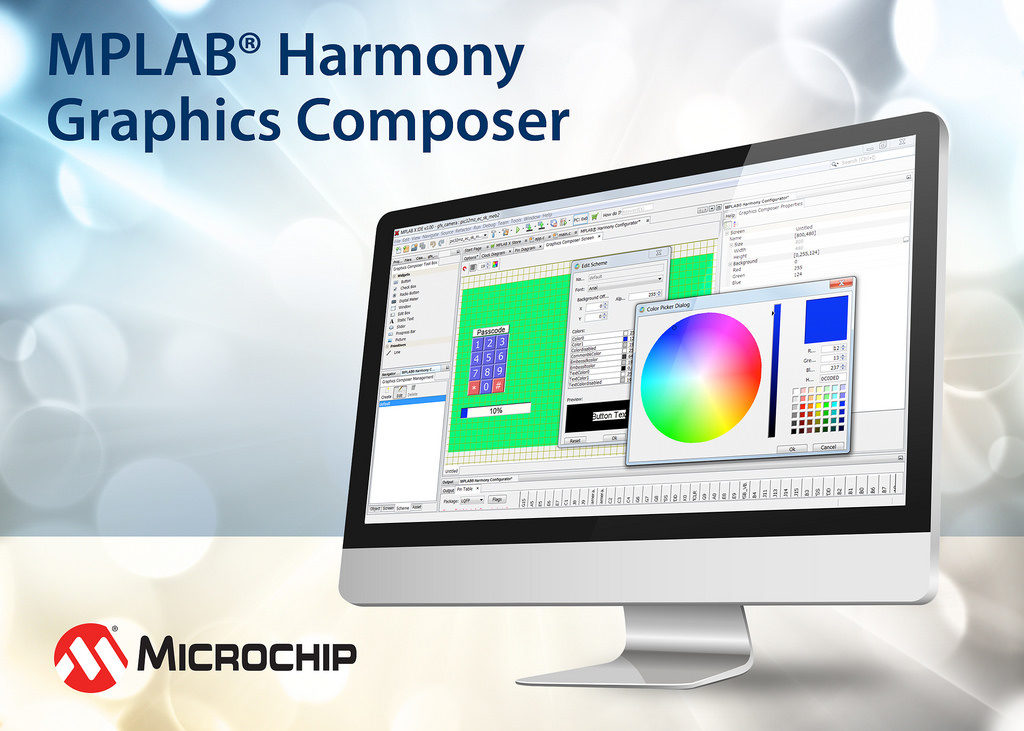 Microchip announced MPLAB® Harmony Graphics Composer GUI Tool
