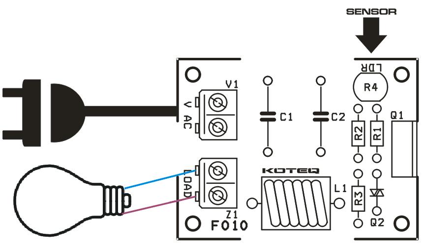 DARK-SENSTIVE-LAMP-ON-OFF-CONTROLLER- WIRING