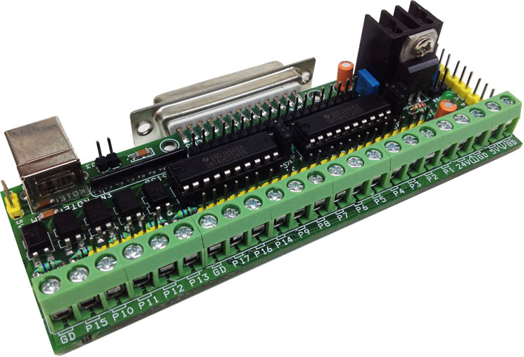 Parallel Port Breakout Board With Buffer For Cnc Routers Electronics Lab Com