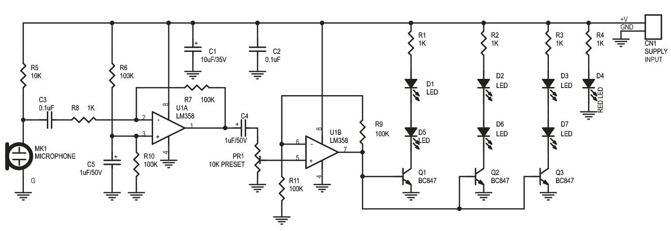 SOUND-TO-LIGHT-EFFECT-SCHEMATIC
