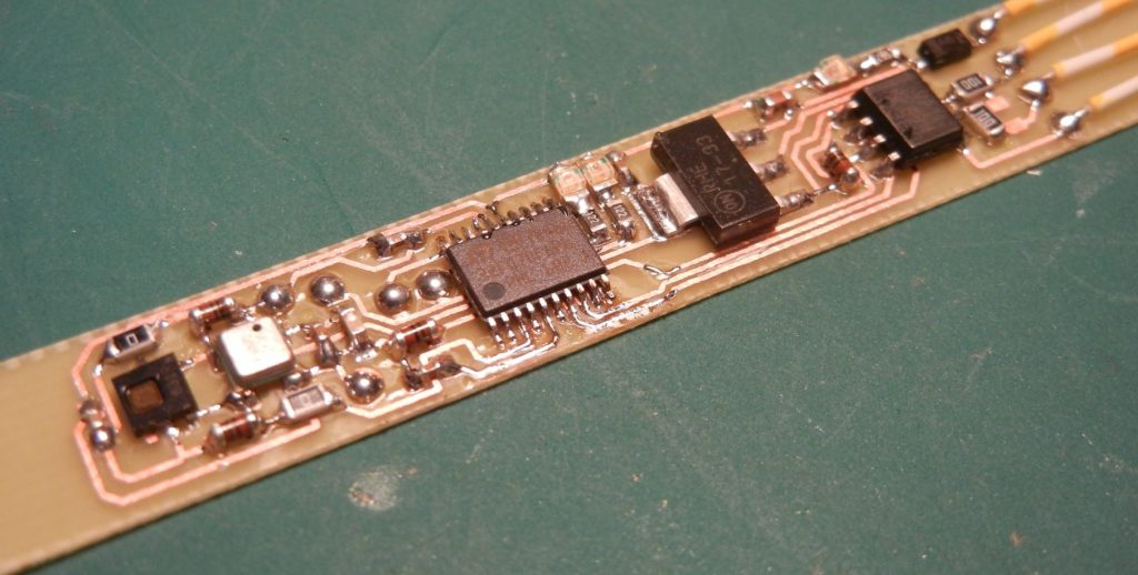Pressure, temperature and humidity sensor board with RS485