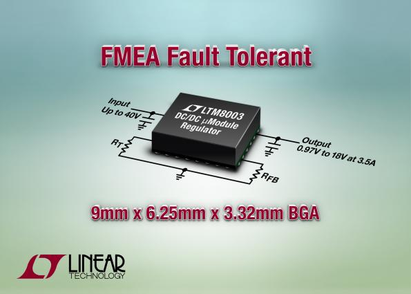 LTM8003 – 40VIN, 3.5A Step-Down μModule Regulator