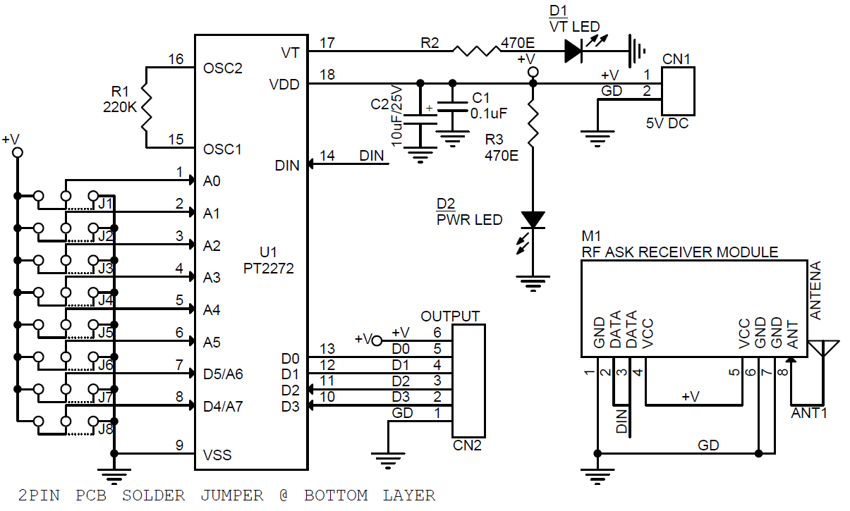 Schematic Remote Control Wiring Data Circuit Diagram Of 4 Channel Rf Controller Rx Electronics Lab Rh Com Car