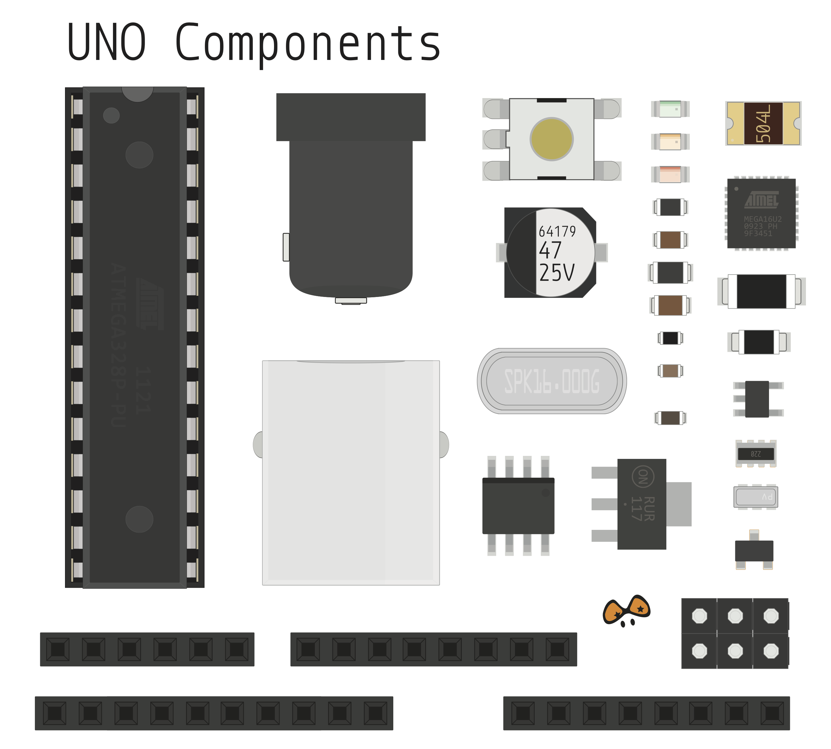 Components uno electronics lab