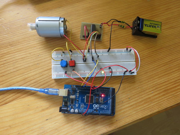 Controlling DC motors with Arduino and L293