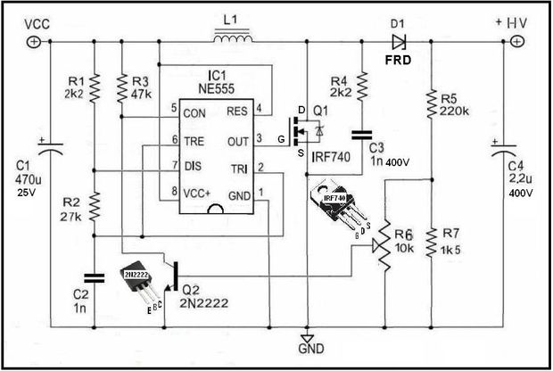 Adjustable HV Power Supply for Stompbox