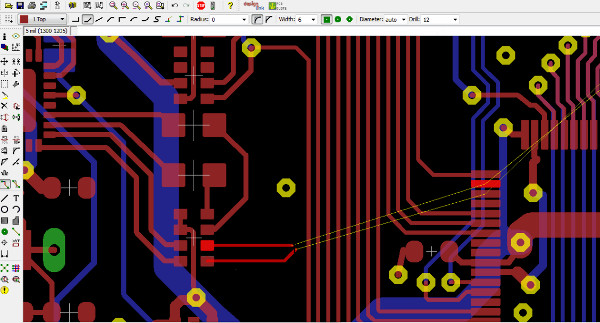 Differential Pair Routing and Meander Tool in Eagle CAD