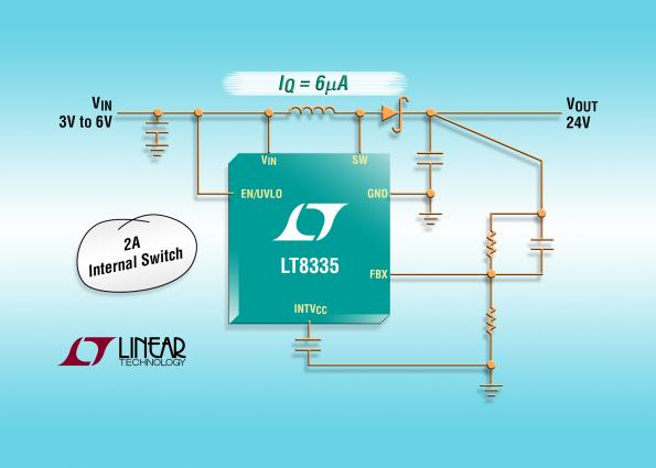 LT8335 – Converter minimizes quiescent current