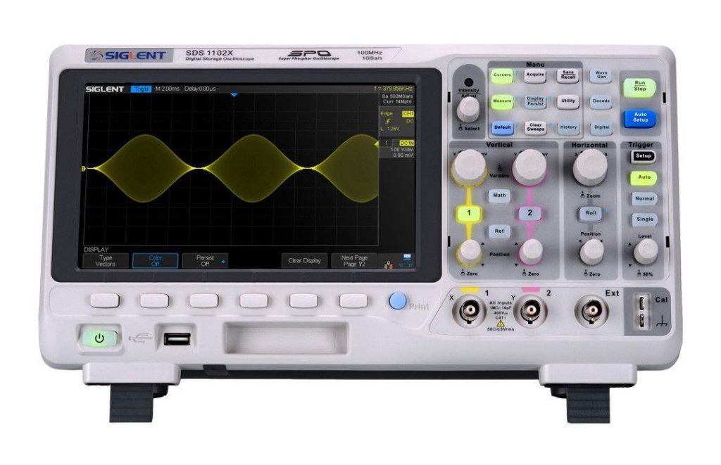 Siglent oscilloscope SDS1102X review