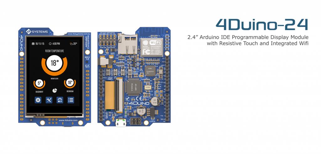 4Duino – A 2.4″ TFT LCD IoT Display Module