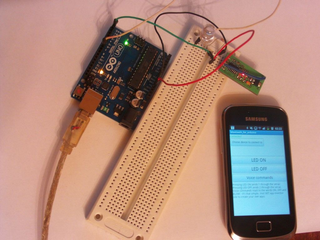 How to control Arduino board using an Android phone