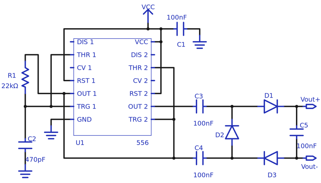 Charge-pump topology doubles voltage