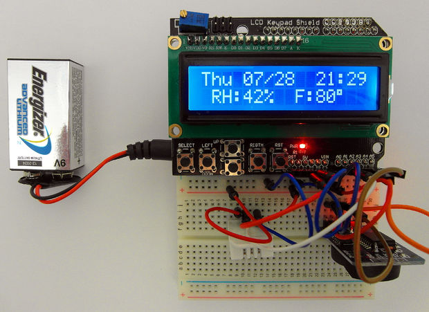 Calendar- Time – Humidity and Temperature Arduino LCD display