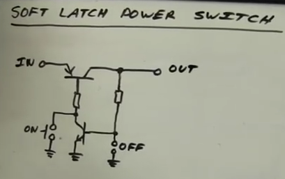 Soft Latch Power Switch Circuit