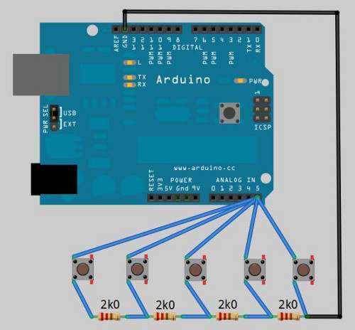 How To Connect Multiple Buttons with MCU Using One Line