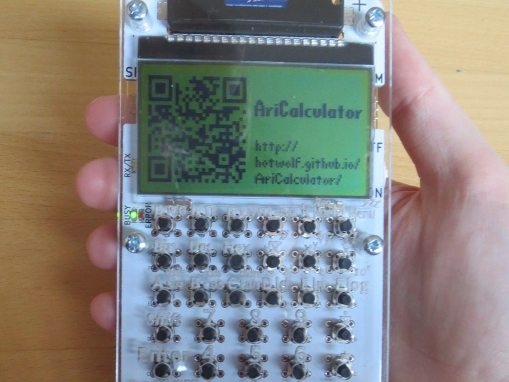AriCalculator – A homemade handheld calculator