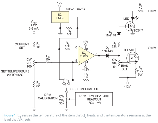 Use a transistor as a heating element