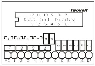 4 Digit Multiplexed 0 33 Inch 7 Segment Common Anode Display