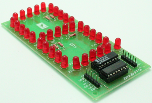 7 Segment LED Based SPI Display using 74HC595