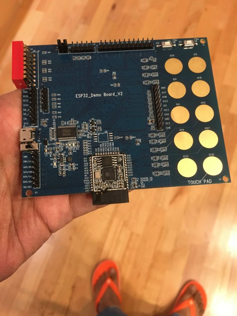 ESP32 Demo board - Image courtesy Ady