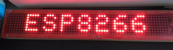 ESP8266 Wifi enabled 8×64 pixel LED matrix display