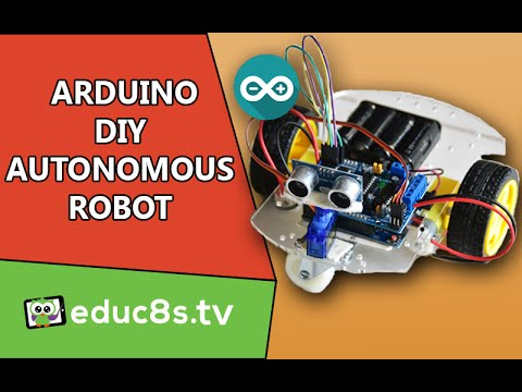 A DIY obstacle avoiding robot using an SG90 servo and Ultrasonic Sensor