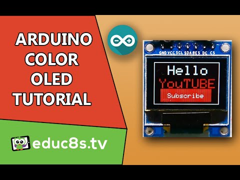 Arduino Tutorial: Color OLED SSD1331 display with Arduino Uno