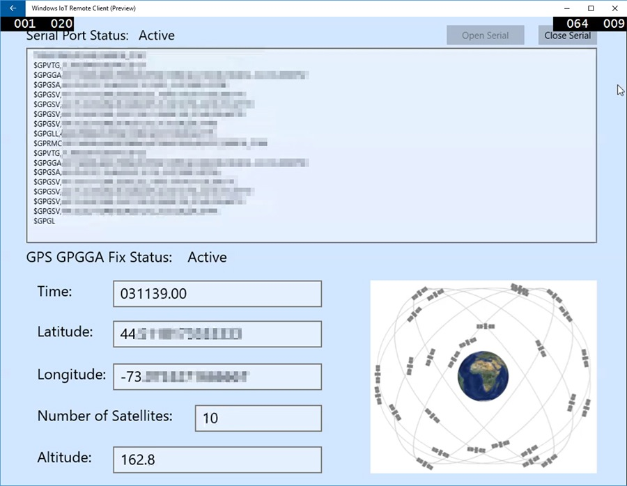 Collecting GPS Data Using GPS Module With Windows IoT