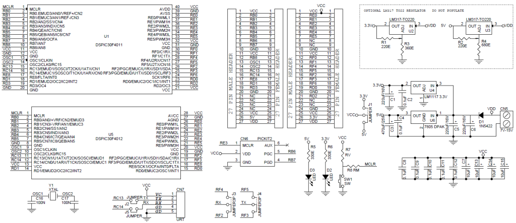 40-pin-28-pin-dspic-development-board-schematic