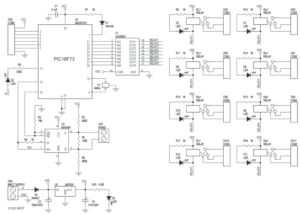 8-channel-rs485-driven-relay-board-schematic