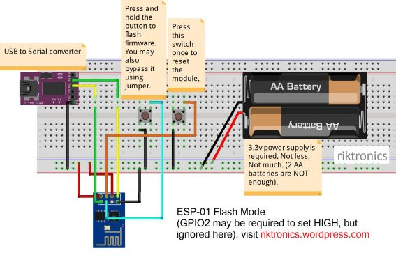Flash Firmware To ESP8266 WiFi Module the easy way
