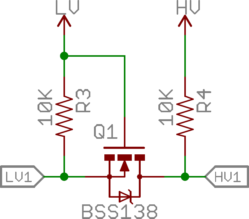 The bi-directional level-shifting circuit