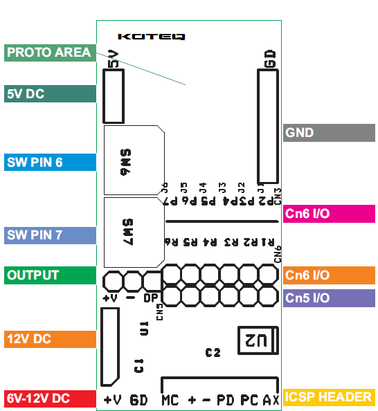 8-pin-pic-development-board-connections