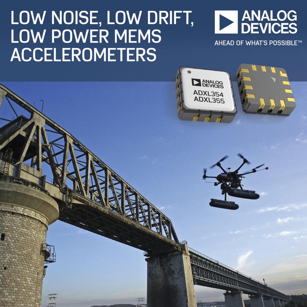 ADXL354 – MEMS ICs detect structural defects