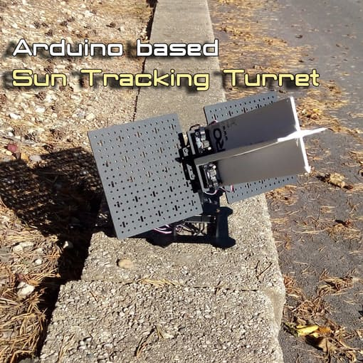 Arduino based sun tracking turret