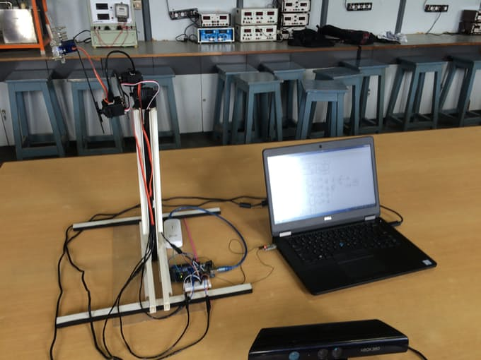 Controlling A Robotic Arm By Gestures Using Kinect Sensor & Arduino