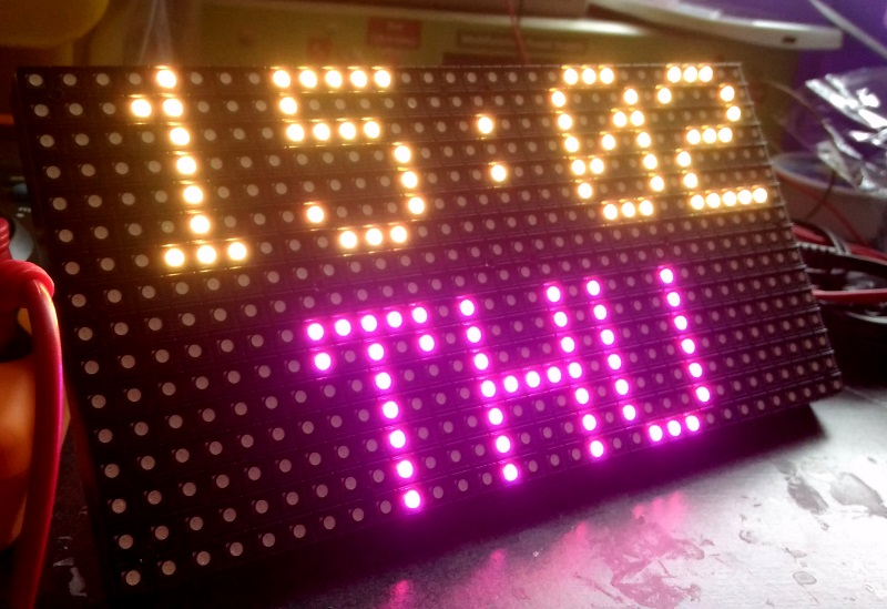 Environmental data display on an RGB matrix panel