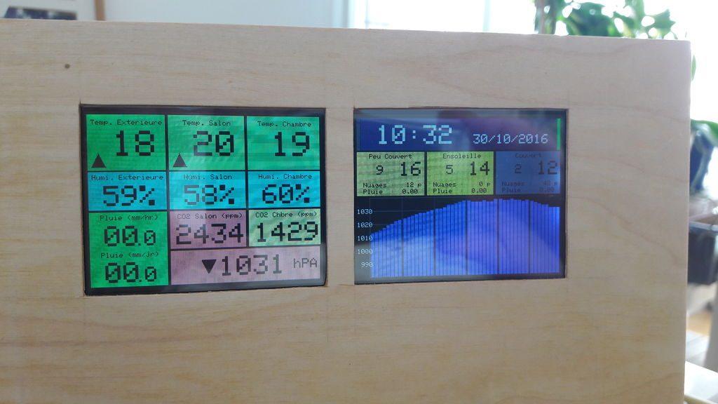 Dual Screen Netatmo Weather Station