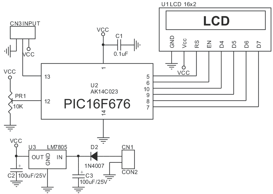 lm35-themometer-pic16f676-schematic